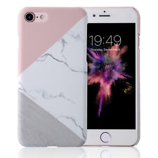 For iPhone XS MAX XR Glossy Granite Marble Contrast Color Hard Phone Cover Case