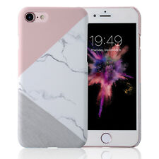 For iPhone 6 6s 7Plus Glossy Granite Marble Contrast Color Hard Phone Cover Case