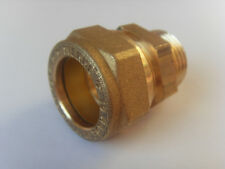 """Gerade Verschraubung AG 1/2"""" flachdichtend x 18mm Klemmring Wellrohr DN12 Solar"""