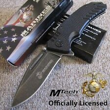 Couteau Marines USMC Guardsman A/O Acier Carbone/Inox Manche G-10 USMA1036BK