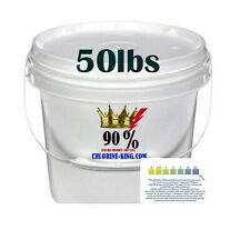 Swimming Pool Chlorine Tablet Pieces & Powder 90% Active Tri-Chlor 50lb bucket