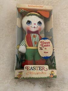 """Vintage Knickerbocker Easter Miniatures Rabbit 1972 6"""" Tall NOS"""