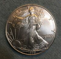 1999 Silver American Eagle BU 1 oz. Coin US $1 Dollar U.S. Mint Uncirculated