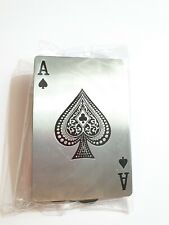 Ace of Spades Belt Buckle Silver Playing Cards Gambling Casino Metal