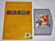 Mario Party + Manual for Nintendo 64 N64 - Luigi Donkey Kong *TESTED* *CLEANED*