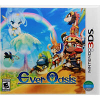 Ever Oasis [Nintendo 3DS Action RPG Explore Deserts Caves Dungeons Puzzles] NEW