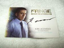 Autógrafo de flecos tarjeta flecos TV Series Kirk Acevedo como Charlie Francis A12