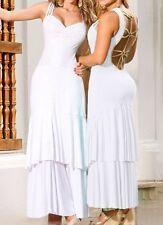 White Sexy Embellished Long Dress size 10 - 12