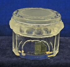 LALIQUE FRANCE CRYSTAL SPARROWS DRESSER BOX LABEL SIGNED #1