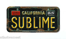 Sublime Vinyl Sticker / Decal License Plate Logo, Officially Licensed