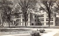 D4/ Fertile Minnesota Mn Real Photo RPPC Postcard c40s High School