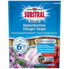 Substral Osmocote Balkonblumen Dünger Kegel - 25 Stück - Düngekegel Blumendünger