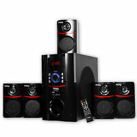 Bluetooth 800 Watt Surround Sound 5.1 Speaker System Laptop PC Home Audio USB SD