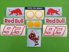 Marc Marquez 93 Helmet and Visor or Fairing Stickers Decals - 12 piece kit #84
