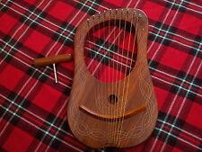NEUF Lyra Harpe 10 cordes bois rose / LYRE 10 PALISSANDRE + HOUSSE DE TRANSPORT