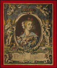ICONOGRAPHY: 1622 Matham Print of Violinist