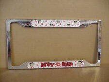 BETTY BOOP METAL LICENSE PLATE FRAME FACES & KISSES DESIGN