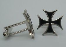 Maltese Cross Quality Enamel Cufflinks
