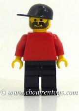 LEGO 3403 Sports Soccer Fan Minifigure Red Torso & Arms w/ Black Legs & Hat NEW