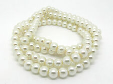 Ivory Glass Pearl 6mm Round Beads One Strand (145 Beads Approx) J12540XF