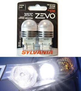 Sylvania ZEVO LED Light 3156C White 6000K Two Bulb Back Up Reverse Replacement