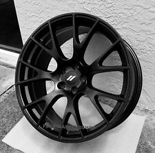 "Dodge Hellcat Satin Matte Black wheels 20x9"" Challenger Charger 300c  ON SALE"