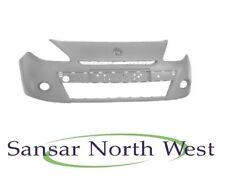 Renault Clio -Front Bumper No wash Jet Holes - Primed - For 15 inch Wheels 09-12