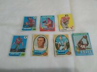 SAN FRANCISCO 49ERS VINTAGE T.C.G. FOOTBALL CARDS LOT OF 7