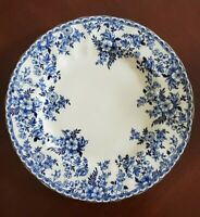"BRAND NEW (4) Johnson Brothers Blue Floral Flowers 11"" Dinner Plates Home Decor"