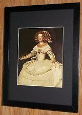 Framed 12''x16'', Velazquez, Maria Teresa, master paintings, rare print