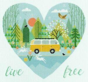 Live Free Cross Stitch Kit