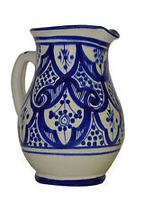 Sangria Wine Pitcher Moroccan Water Jar Cooler Ceramic Beverage Dispenser Juice