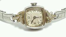 Vintage ladies Caravelle by Bulova fancy cased  mechanical watch 10k RGP #12ZR