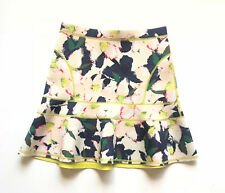 J. Crew Women's A Line Floral Skirt Size 2 Spring Summer Midi Zipper