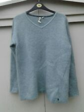 Light Green WHITE STUFF Wool, Mohair V Neck Jumper Size 14