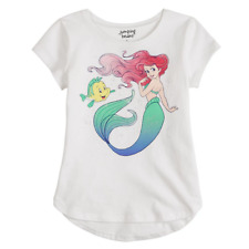 Disney Girls 4 Ariel Mermaid Tee Top Short Sleeves