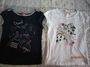 Poney & Miki Toddler Girl Round Neck Short Sleeves T-Shirts (5yo) 2pcs