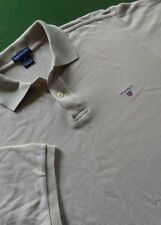 Mens Gant Beige Polo Shirt 38'' Chest Medium