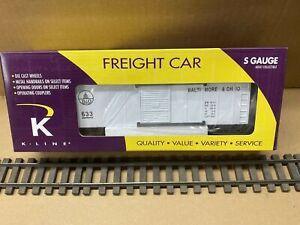 K-Line S Scale K511-009 Baltimore & Ohio BOX CAR