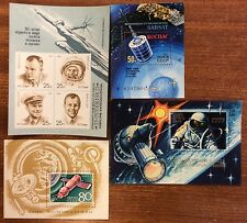 Selyn of 4 different ussr space mini sheets MUH