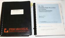 Optronic Laboratories Manuals UV-Visible Spectroradiometer OL754 Sphere Probe