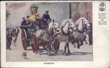 Deutscher Knabenkalender 1911 - Feuerwehr Dampfspritze Kutsche - Alte AK (Y-8627