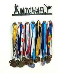Custom Personalized Name Medal Holder Karate Taekwondo Award Belt Display Hanger