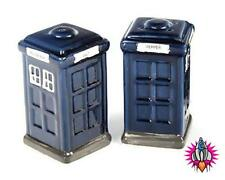 POLICE BOX THE DOCTOR SALT AND PEPPER POTS SHAKERS CRUET SET IN GIFT BOX