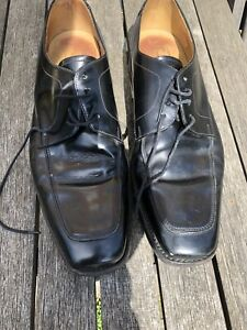 Loake size 8 mens black leather shoes Goodyear Welted Formal