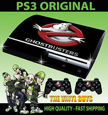 PLAYSTATION 3 CONSOLE STICKER GHOST BUSTERS LOGO GHOSTBUSTERS SKIN & 2 PAD SKINS