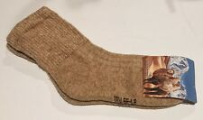 Women's Camel Wool Blend Socks Warm Brown Size M 37-39 NWT Made In Mongolia