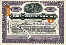 OLD DOCUMENT UNITED STATES STEEL CORPORATION IRON METAL etc Revenue Stamps