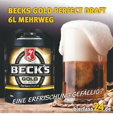 2 x Becks Gold Gold 6 Liter Perfect Draft