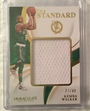 2019-2020 Kemba Walker Panini Immaculate Collection 37/49 Jersey Card Basketball